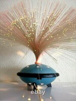 Vintage USSR UFO 70' Fiber Optic Lamp Light Mid Century Space Age. Rare