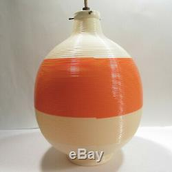 Vtg Heifetz Rotaflex Pendant Lamp Mid Century Light Tri Color Orange Tan