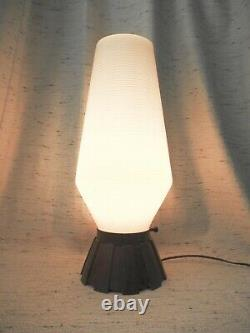 Vtg Mid Century Modern Atomic Beehive Table Lamp Space Age Light Tortie Base