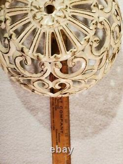 Vtg Mid Century Tension Pole Floor Lamp Light Swag MCM Hollywood Regency Works