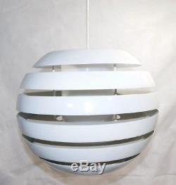 Vtg White Danish Mid Century Modern Hanging Light Pendant Lamp Chandelier Retro
