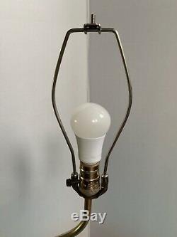 WOW ATOMIC MID CENTURY FLOOR SIDE COFFEE TABLE LAMP Boomerang Teak Wood Light
