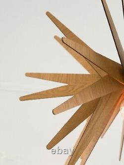 Wood Pendant Light, Mid Century Modern Furniture, Ceiling Lamp, Chandelier Lighting