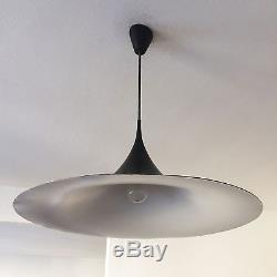 XL Mid Century FOG & MORUP Black SEMI PENDANT LAMP Light BONDERUP & THORUP 60cm